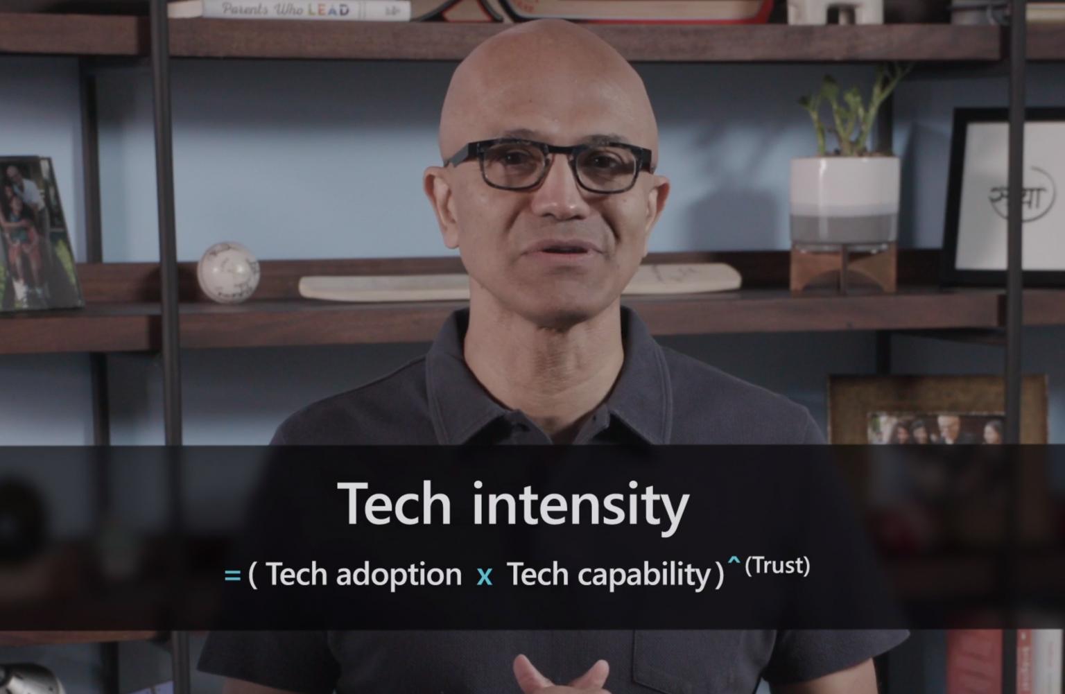 Microsoft Ignite 2020 - Satya Nadella - Tech Intensity